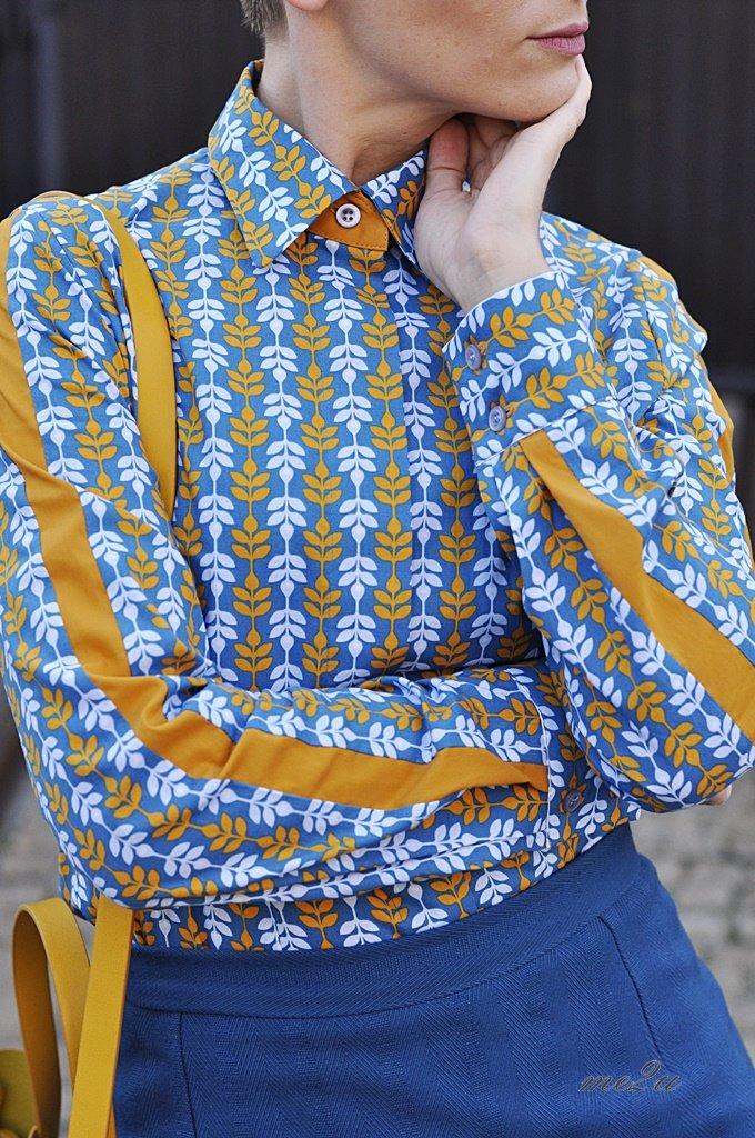 musztardowa bluzka